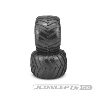 Jconcepts Golden Years Gold Years - Monster Truck tire - blue compound (Fits - #3377 2.6 x 3.6 MT wheel)