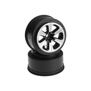 Jconcepts Hustle - Slash front wheel - (black w/ silver face plating) - 2pc.