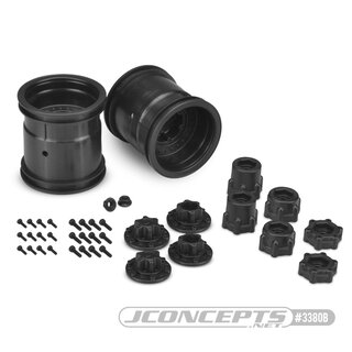 Jconcepts Midwest 2.2 MT 12mm hex wheel w/ adaptors - (black) - 2pc.
