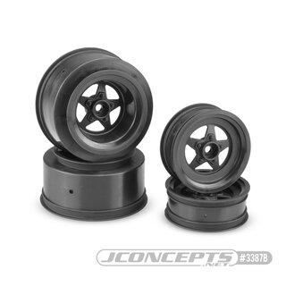 Jconcepts StarTec - Slash | Bandit, Street Eliminator front 2.2 and rear 2.2 x 3.0 wheel set - (black)